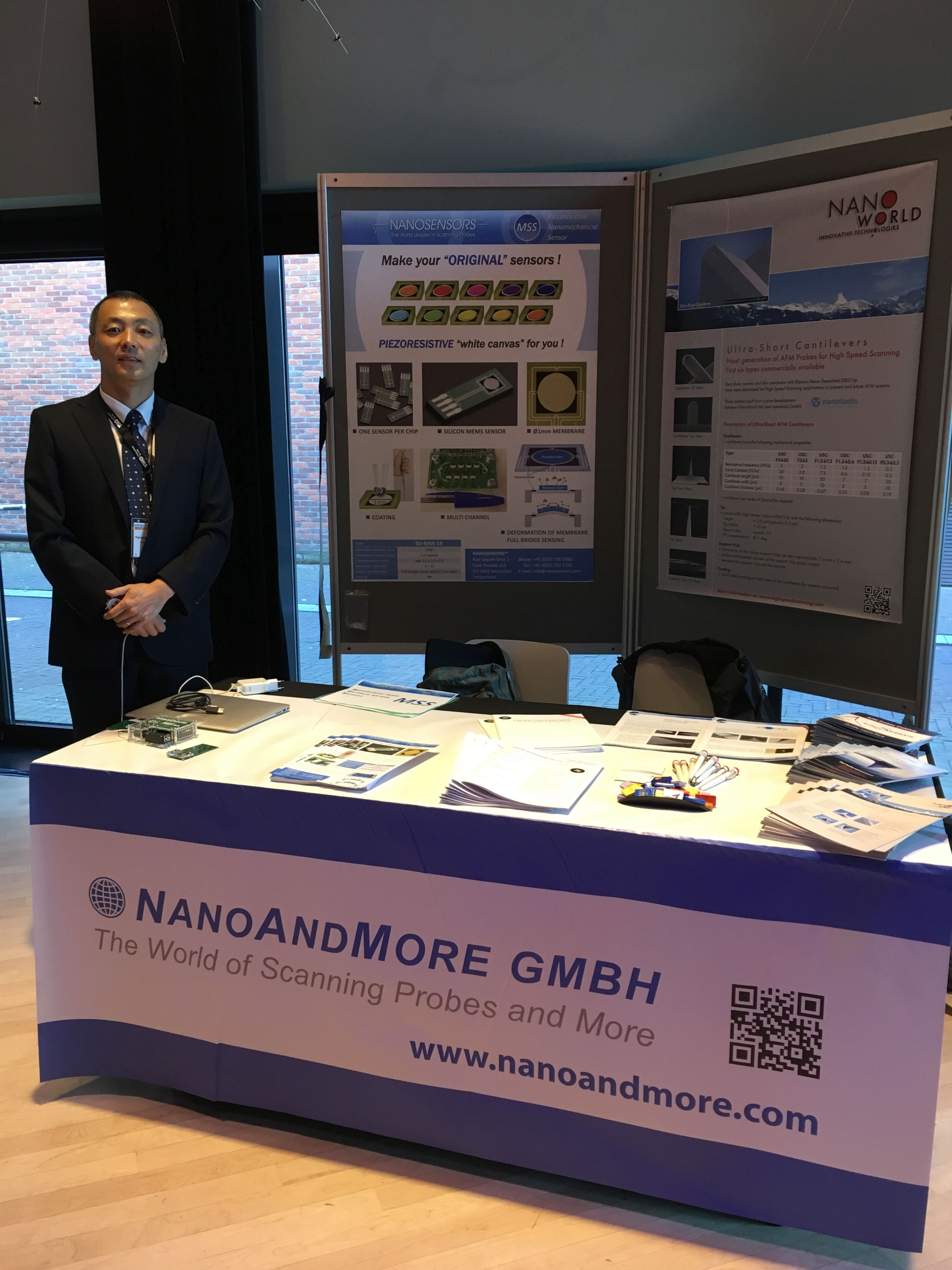 MSS Sensors Demo at the NanoAndMore booth at NMC